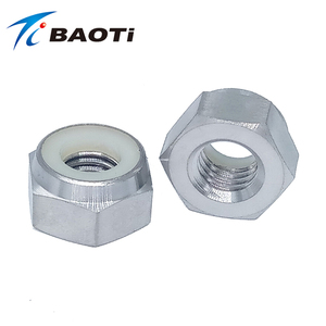 cnc machined titanium m2 nylon insert threaded lock nuts