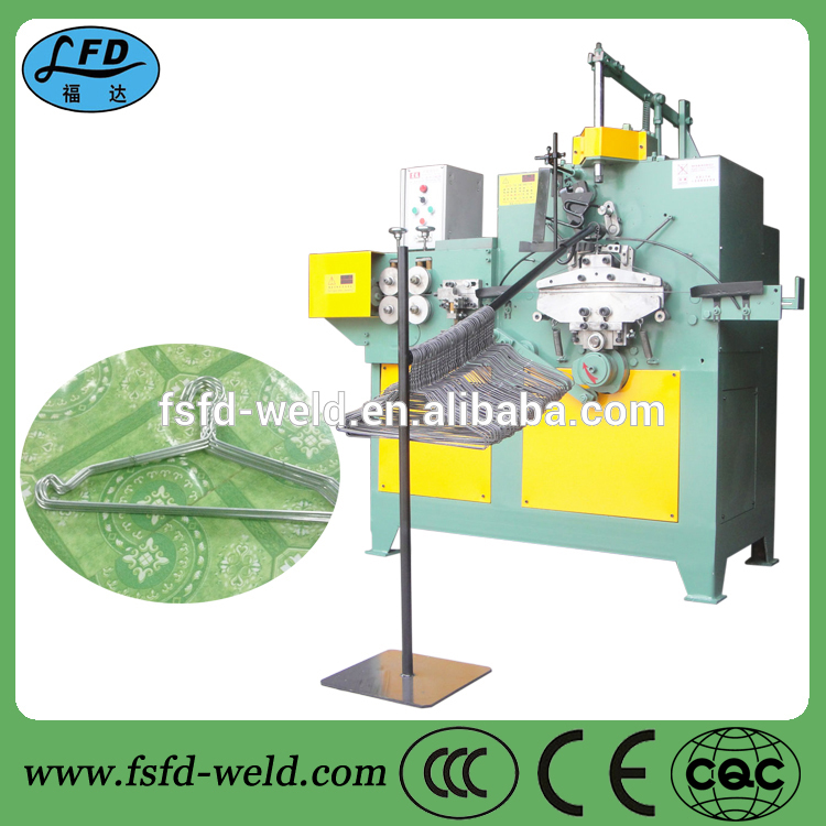 Automatic wire clothes hanger making machine