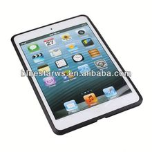 Plastic case for ipad mini Crystal Case Cover For ipad Mini,PC+TPU Transparent Case For ipad mini