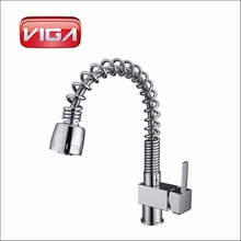 Chrome plated Brass Sink Mixer Spring Kitchen Faucets