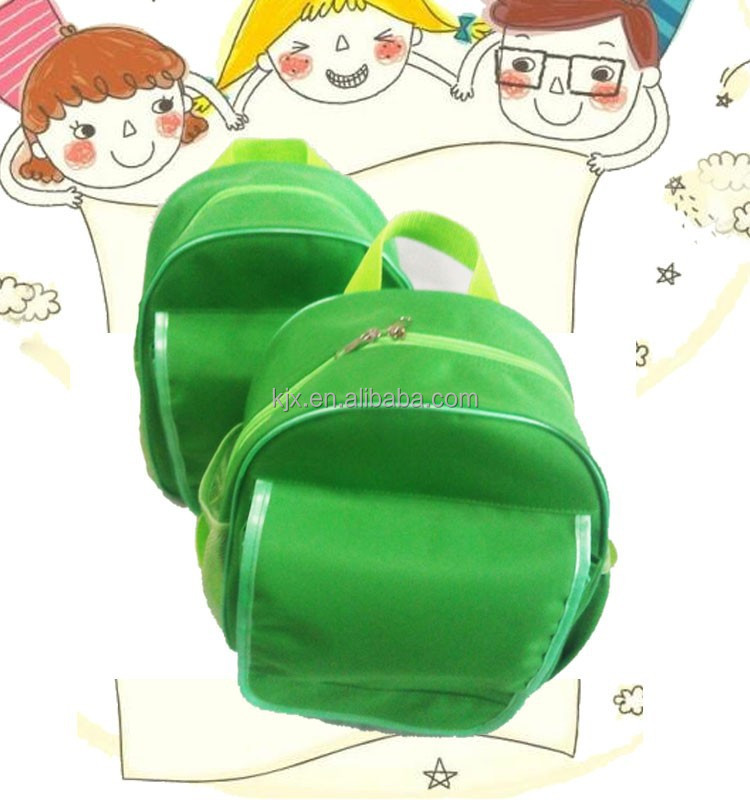 Strong Design Green Color Wholesale Children School Bag