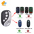 NICE FLO1 FLO2 FLO4 Garage Gate Universal 4 Button Remote Control Replacement Cloning Duplicator Remote Control Key Fob 433mhz
