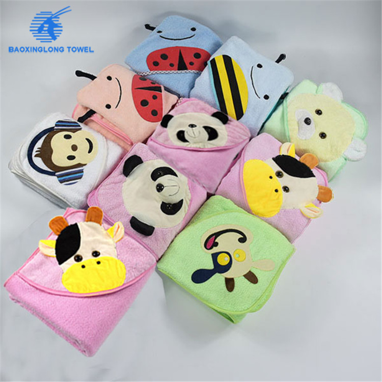 high quality gifts baby hooded bath towels sets