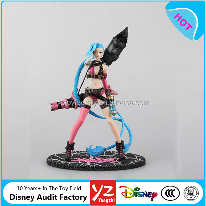wholesale plastic jinx league of legends action figure league of legends pvc figure