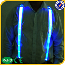 China wholesale body decoration Led men suspenders