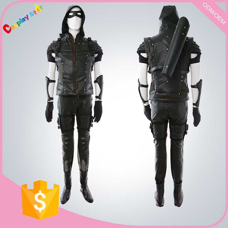 2016 New Film Party carnival man Green Arrow robin hood fancy dress costume