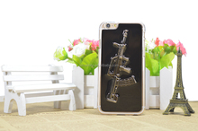 3D Weapon Gun Knife Sword Cover Case For iphone 5/5s/6/6s/6 plus/6s plus