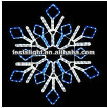 2D LED christmas Snowflake motif light 10% price off for 2016 promotion