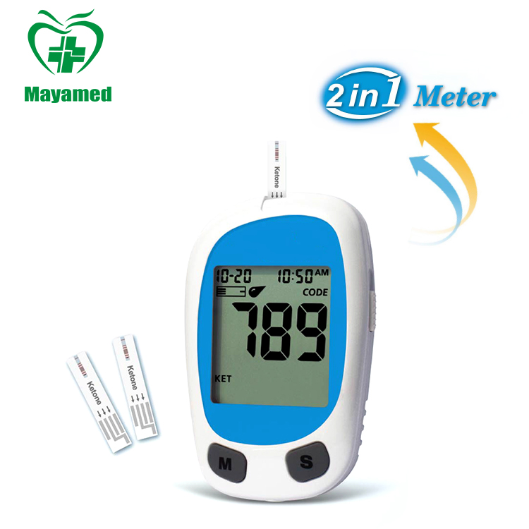 MY-G025M Factory price portable digital Blood Glucose Meter & Ketone Monitoring System with test strips