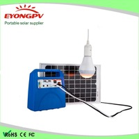 10W Solar DC System with Solar Panel DC bulbs and Mobile Charger