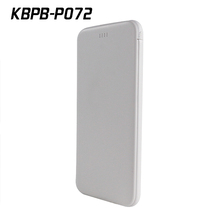 P072 Super slim phone charger 5000mah,power bank with built-in cable