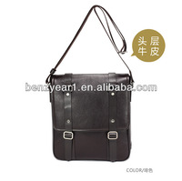 Hot sell Italian style cow leather man shoulder bag