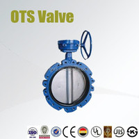 double flange and lug type screw thread connection butterfly valve