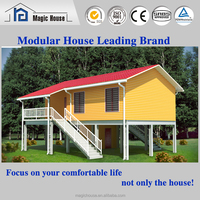 Environmental Fast installing High Quality small hotel/family low cost prefab building/modular home modern