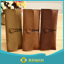 Custom wholesale leather pencil case bag