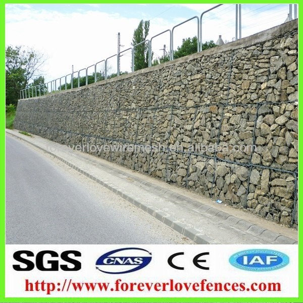 roadway gabion rock retaining wall(china supplier)