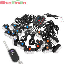 wireless remote control 32 LED emergency vehicle strobe lights for front grille/deck