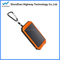 Active waterproof external backup cargador solar mobile phone battery charger