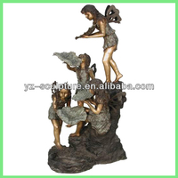 large bronze fountain with children statue for sale