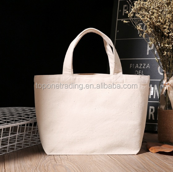 Canvas Tote Women Single Shopping Bags Large Capacity Cotton Canvas Beach Bags Casual Tote Bag