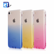 Wholesale Alibaba Luxury Gradient Color Shockproof Ultra Thin Clear Soft TPU Skin Gel Silicone Back Cover Case for iPhone 7