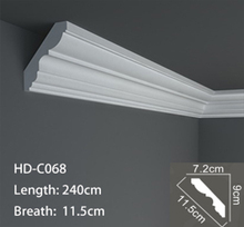 High quality polyurethane moulding COR-0165 pu cornice pu moulding decoration pu lines