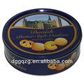 Round customized Printed Biscuits Tin Can