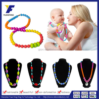 bead jewelry necklace,angel baby pendant necklace,silicone teething necklace wholesale
