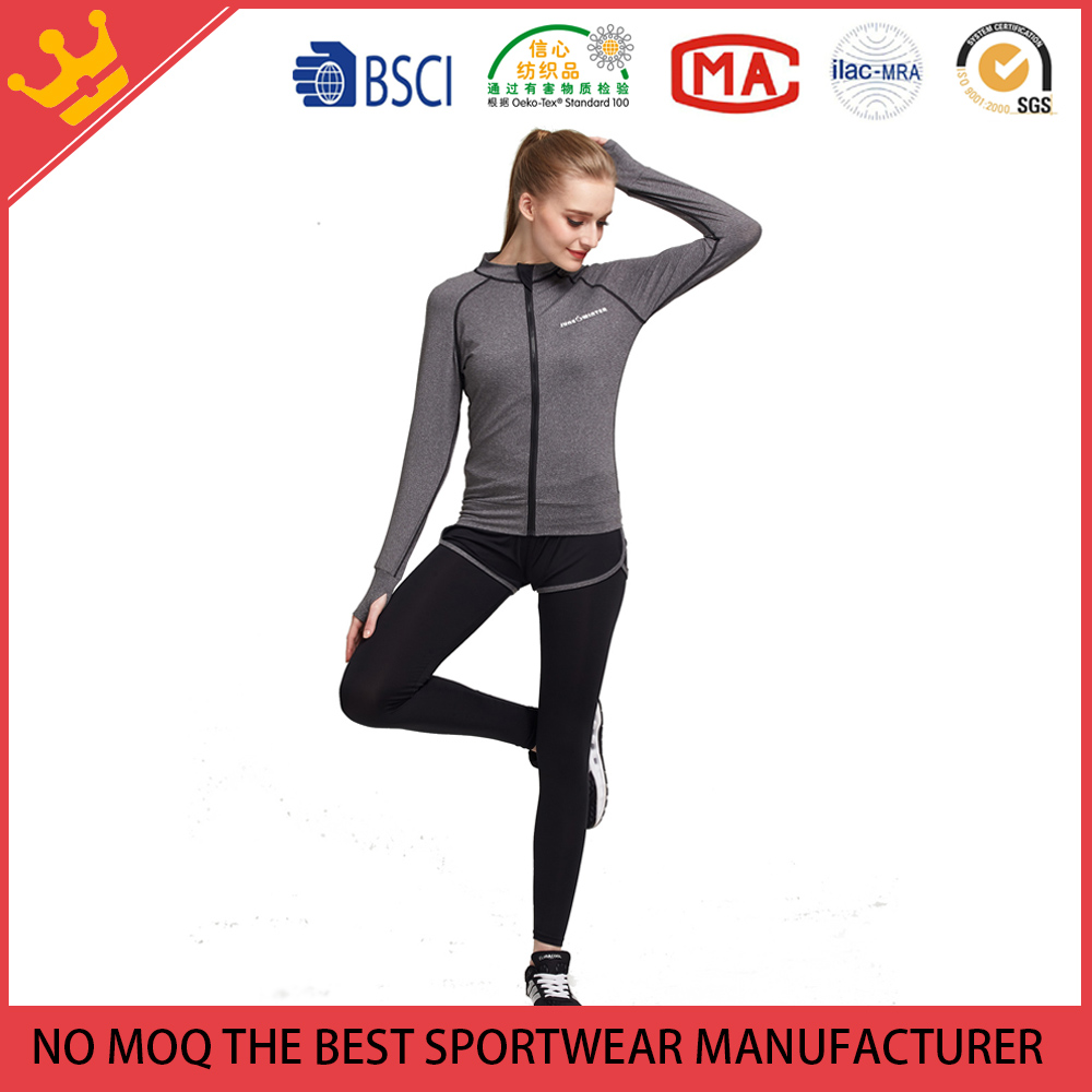 Custom Girl Running Yoga Pants Sets Fitness Sports Wear Sets Active Wear Sets