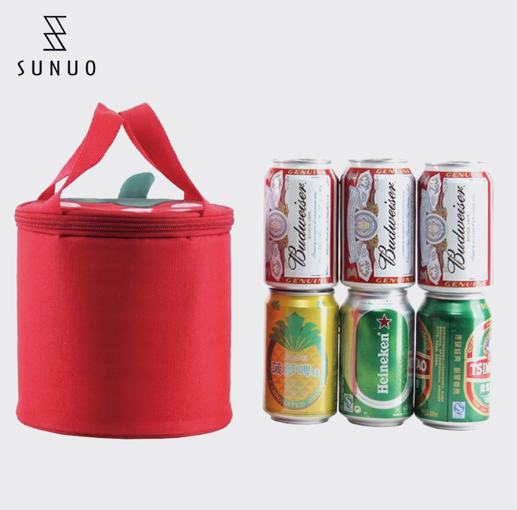 Insulated Large Round Lunch Cooler Bag And Box For Adults