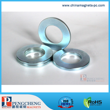 N42 Zn-Coated NdFeB Ring Magnet for motor