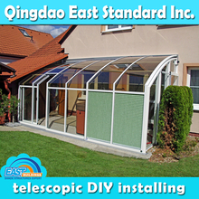 East Standard china manufacturer flat roof garden sun room