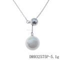 Silver Pearl Ball Jewelry Famous Pearl Jewelry Necklace Solid Rhodium Plated Jewelry DR032575P
