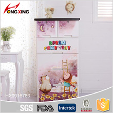 Dream World Design 5-layer Plastic Clothing Cabinet with Two Locks