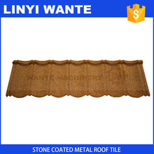 best selling Metal building material color steel plate bent tiles stone coated roof sheet for construction
