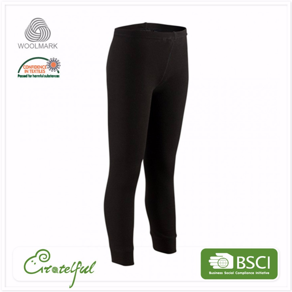 Wholesale fitness breathable sport jogging 100% wool pants for men