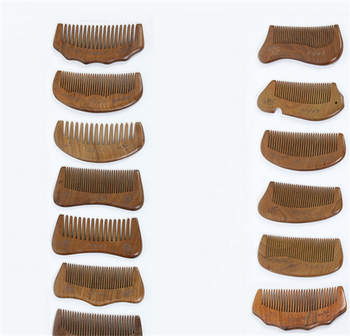 mini pocket beard comb hot selling sandalwood ox horn beard comb