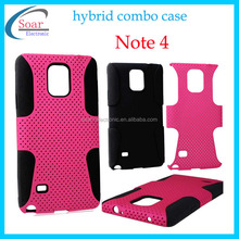 Wholsale mobile phone accessories pc silicone cover for samsung galaxy Note 4 case