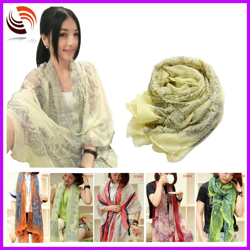 2014 HOT fashion women spring/summer <strong>scarves</strong> thin voile print hijab fashion shawl <strong>scarves</strong>