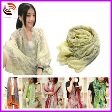 2014 HOT fashion women spring/summer scarves thin voile print hijab fashion shawl scarves
