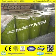 1/2 inch plastic coated green welded wire mesh