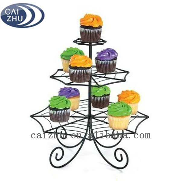 3-tier metal wire spider shape cupcake tree stand for wholesale