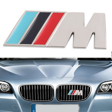 Big Mpower M-tech on Car Trunk Badge Emblem 3D Pure Metal Front Hood Grille Sticker logo///M M3 M5 for BMW Car Styling Sticker