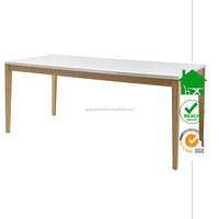 DT- 4073 4 seater modern white wooden dining table
