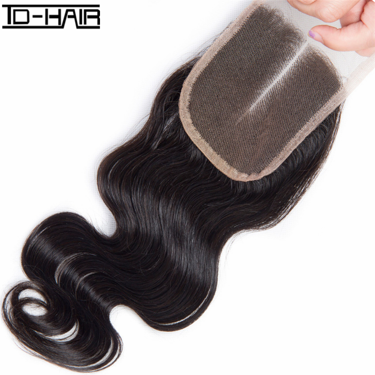 Free Part/Middle Part/Three Part Virgin Brazilian <strong>Hair</strong> 4x4 Body Wave Middle Part Lace Closure Factory Directly Sell
