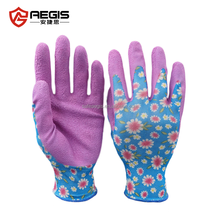Wholesale prices household rubber coated work safety gloves