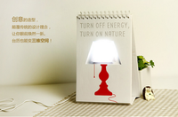 2015 Favorites Compare Usb Power Calendar LED table lamp ,Page by Page LED Calendar Lamp,