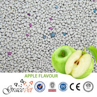 Peach,lemon, apple, jasmine ,rose ,lavender bentonite cat litter with color granule