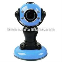 USB 2.0 Blue PC/Laptop Webcam Web Camera 5.0MP w/ 4 LED