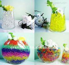 Green-bar water gel beads for indoor decoration